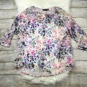 Snow Leopard Blouse Apt 9 NWT